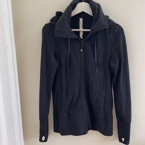 Lululemon Black Hooded Jacket Size 8